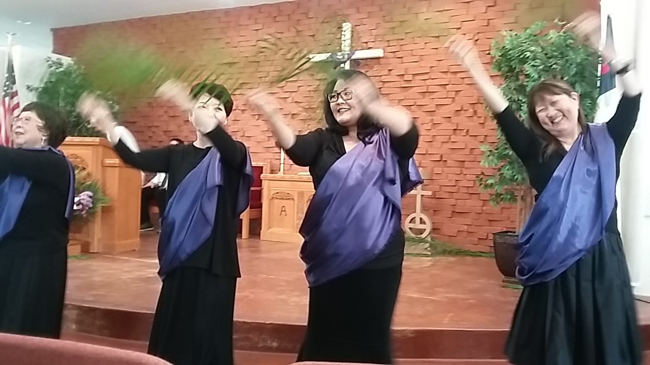 POUVCC Hula Dance Group at Sunday worship service