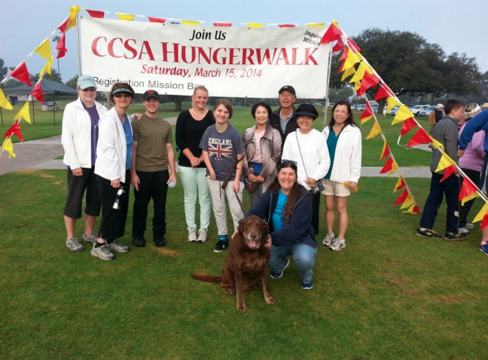 POVUCC walkers participating in CCSA Hunger Walk