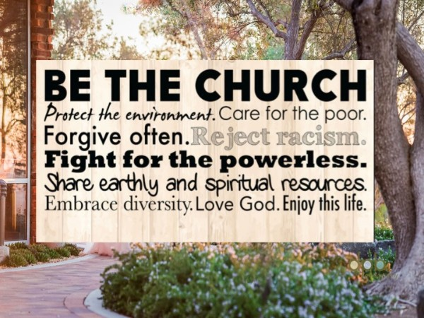 Be The Church Banner of the United Church of Christ at POVUCC